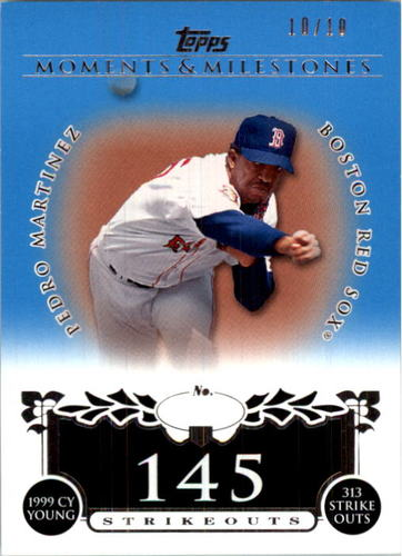 Photo of 2008 Topps Moments and Milestones Blue #141-145 Pedro Martinez