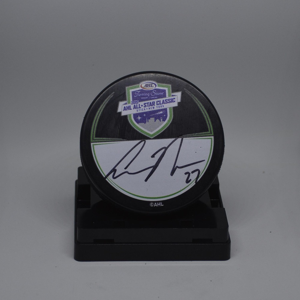2015 AHL All-Star Classic Souvenir Puck Signed by #27 Aaron Ness
