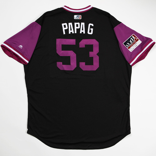 "Photo of Ron ""Papa G"" Gideon  Colorado Rockies Game-Used 2018 Players' Weekend Jersey"