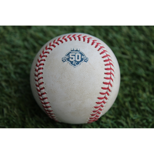 Photo of Game-Used Baseball: Austin Wynns 19th Career Hit (BAL @ KC- 9/1/18)