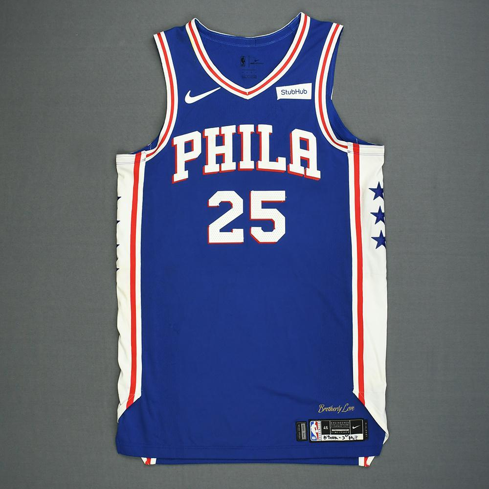 Ben Simmons - Philadelphia 76ers - Kia NBA Tip-Off 2018 - Game-Worn ... a5de63f63