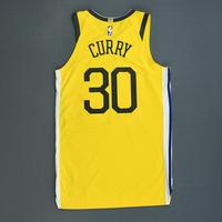 Stephen Curry - Golden State Warriors - Christmas Day' 18 - Game-Worn Earned Statement Edition Jersey