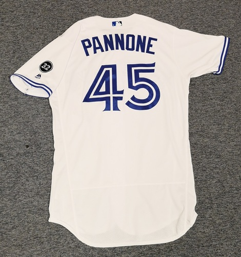 Photo of Authenticated Game Used Jersey - #45 Thomas Pannone (Aug 21, 18). Size 44. Rookie Season.