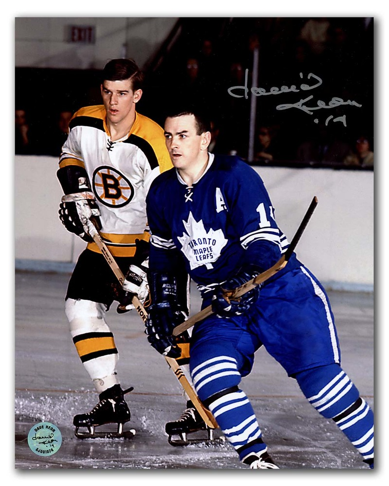 Dave Keon Toronto Maple Leafs Autographed vs Bobby Orr 8x10 Photo