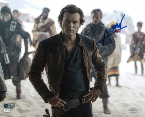 Alden Ehrenreich As Han Solo 8X10 AUTOGRAPHED IN 'BLUE' INK PHOTO