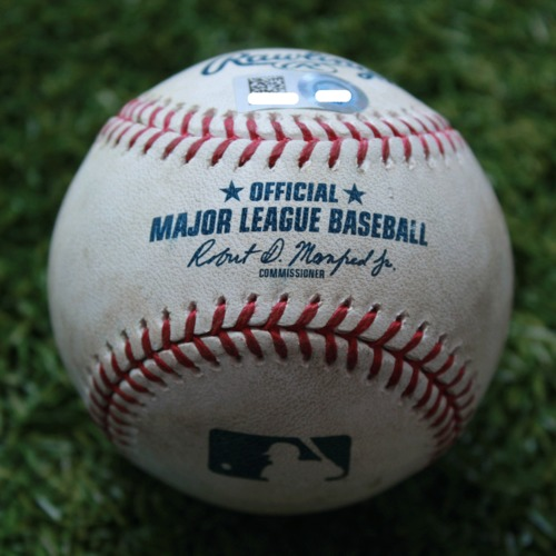 Game-Used Baseball: Kevin Kiermaier 512th Career Hit and 191st Career RBI (TB @ KC - 4/29/19)