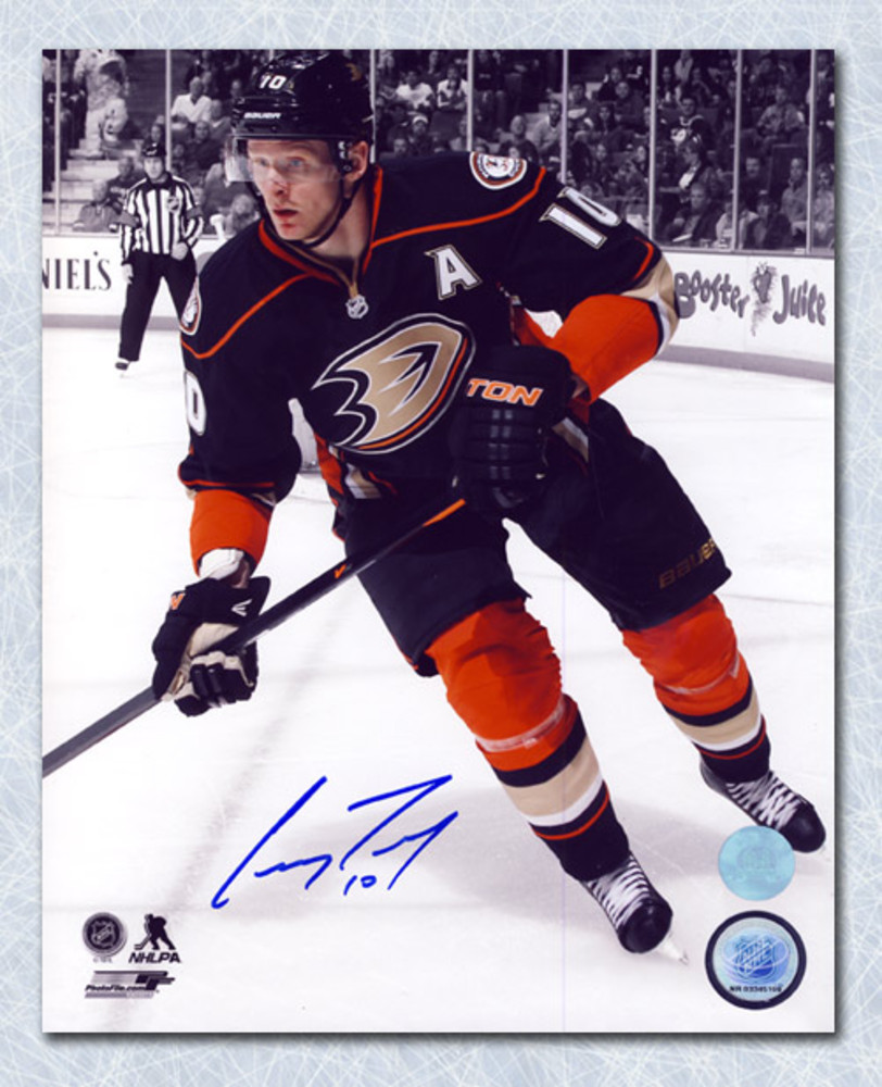 Corey Perry Anaheim Ducks Autographed Spotlight Action 8x10 Photo