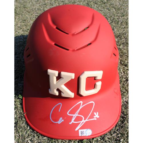 Photo of Autographed Monarchs Catchers Helmet: Cam Gallagher #36