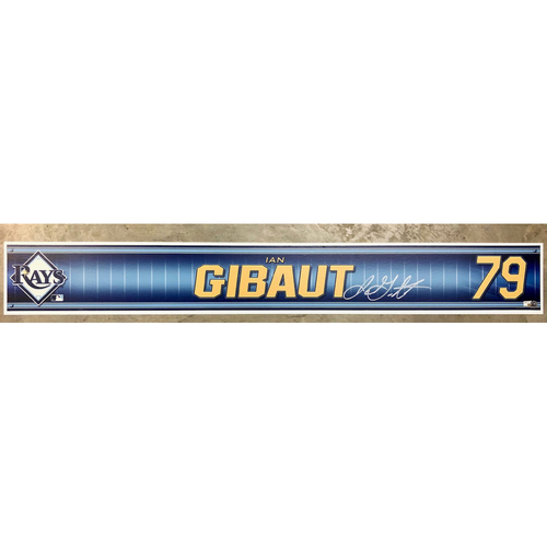 Photo of Rays Baseball Foundation: Team Issued Autographed Locker Tag - Ian Gibaut