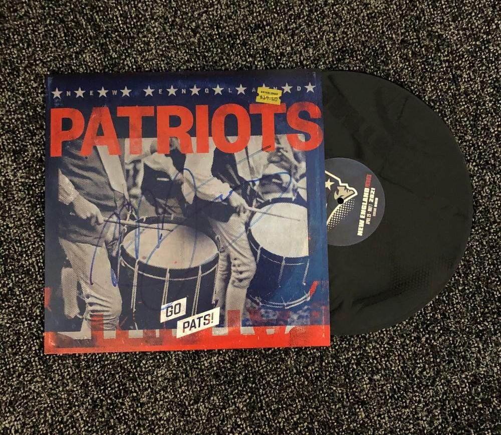 NFL Draft - Mac Jones signed Custom Patriots Vinyl