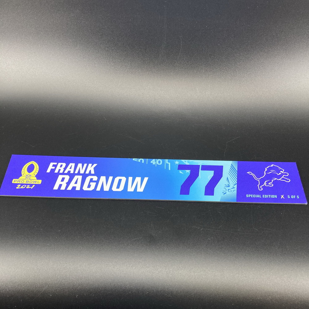NFL - Lions Frank Ragnow 2021 Pro Bowl Locker Nameplate Special Edition #5 of 5