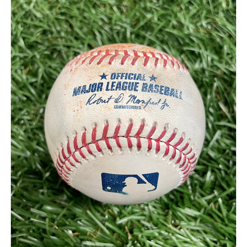 Photo of Game Used Baseball: Josh Fleming strikes out J.T. Realmuto - Top 4 - May 30, 2021 v PHI