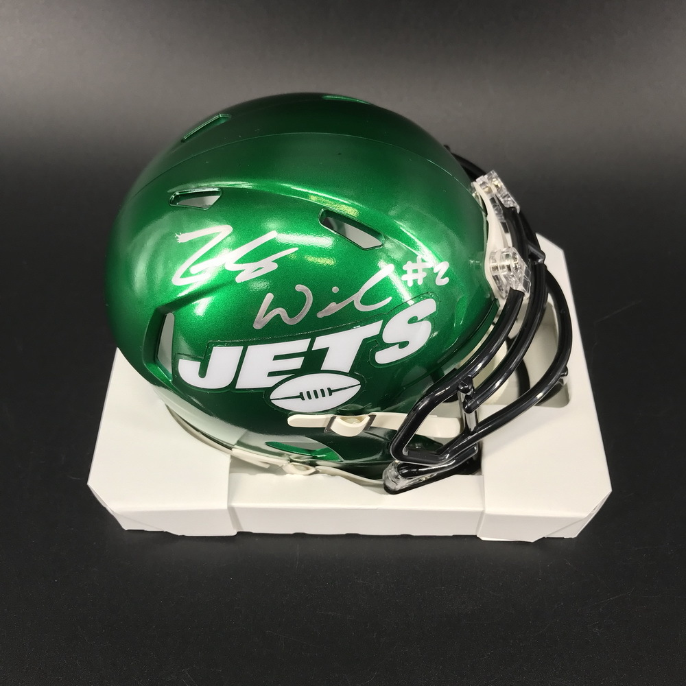 NFL - Jets Zach Wilson Signed Mini Helmet