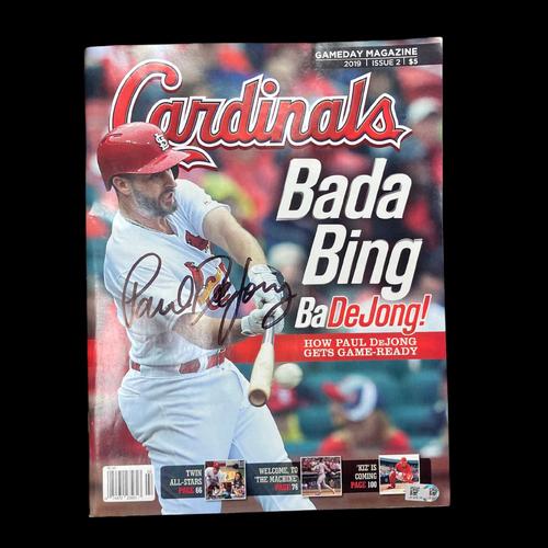 Photo of Paul DeJong Autographed Cardinals GameDay Magazine