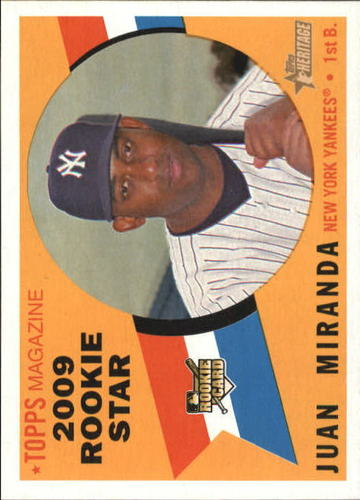 Photo of 2009 Topps Heritage #142 Juan Miranda RC