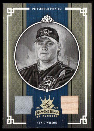 Photo of 2005 Diamond Kings Materials Gold B/W #178 Craig Wilson Bat-Jsy/50
