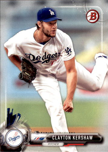 Photo of 2017 Bowman #80 Clayton Kershaw