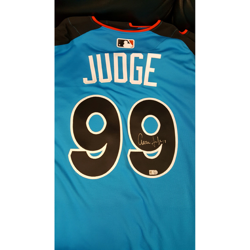 Aaron Judge 2017 Major League Baseball Workout Day/Home Run Derby Autographed Jersey