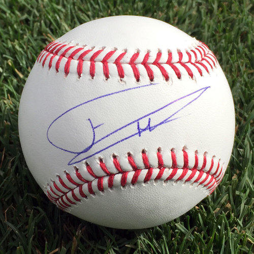 Photo of Franklin Barreto Autographed Baseball