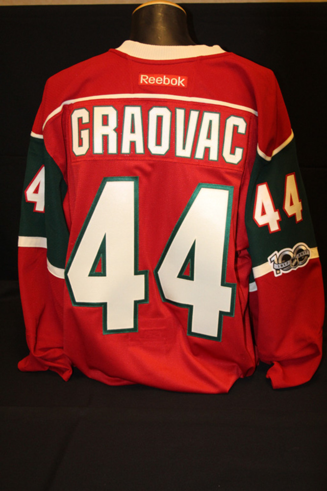 Authentic Red #44 Tyler Graovac Jersey