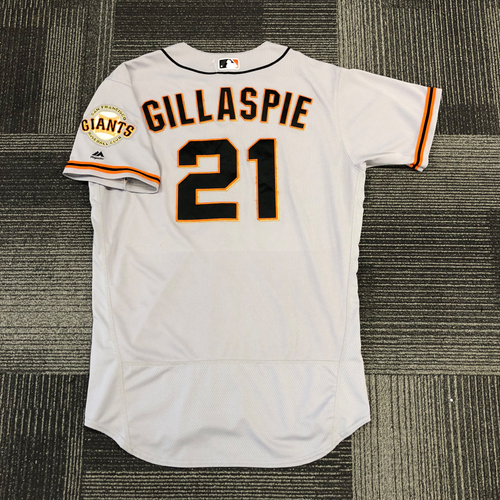San Francisco Giants -2017 Game-Used Road Alternate Jersey worn by #21 Conor Gillaspie