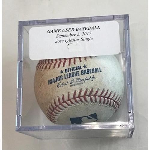 Photo of Game-Used Baseball: Jose Iglesias Single