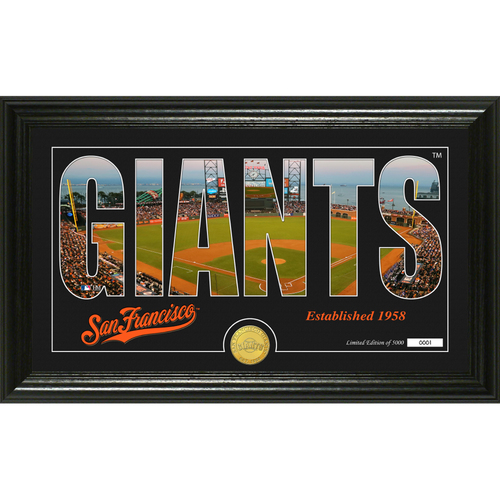 """Photo of Serial #1! San Francisco Giants """"Silhouette"""" Panoramic Bronze Coin Photo Mint"""