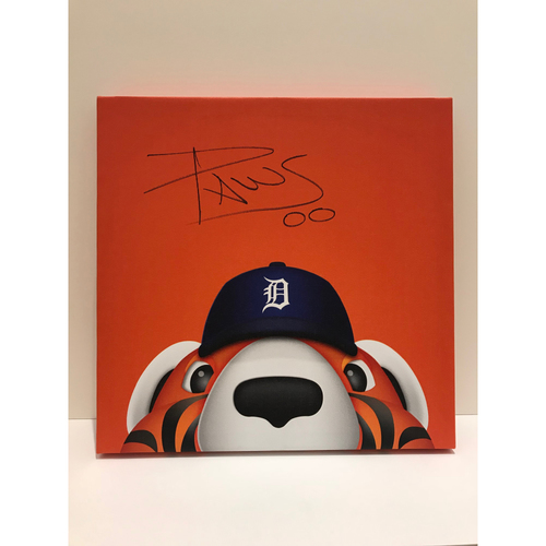 Photo of Autographed Paws Canvas Print - Tigers