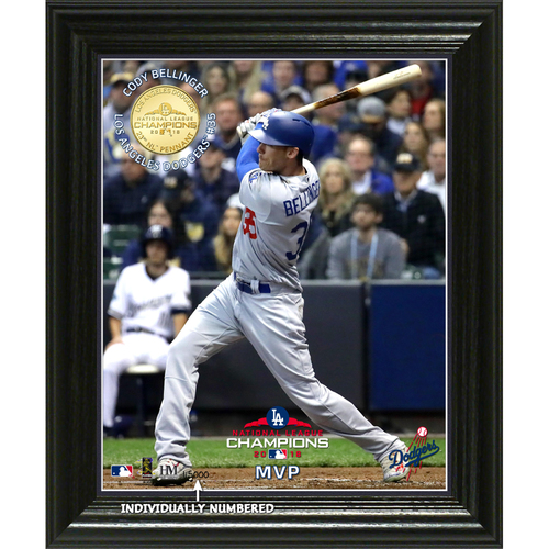"Photo of Los Angeles Dodgers 2018 NL Champions ""MVP"" Elite Bronze Coin Photo Mint"