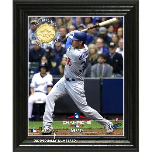 "Photo of Los Angeles Dodgers 2018 NL Champions ""MVP"" Elite Bronze Coin Photo Mint"