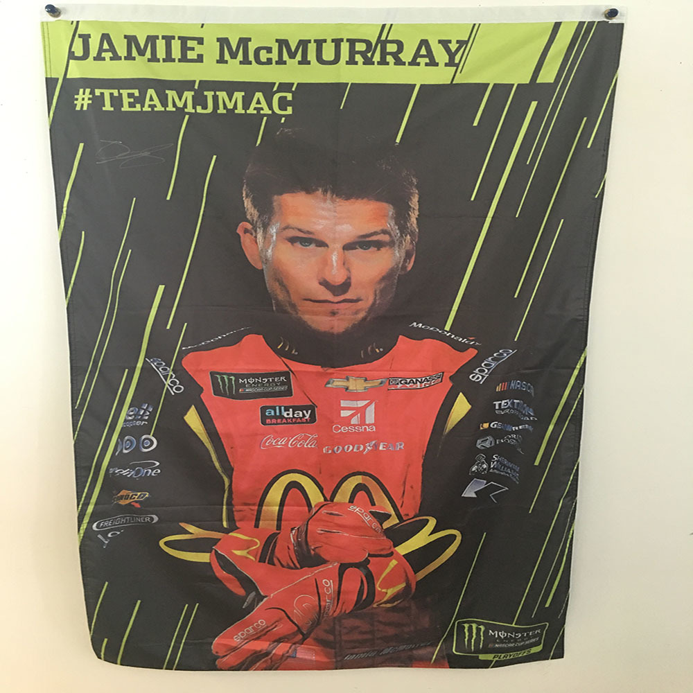 NASCAR'S Jamie McMurray Autographed MENCS Playoff Banner!