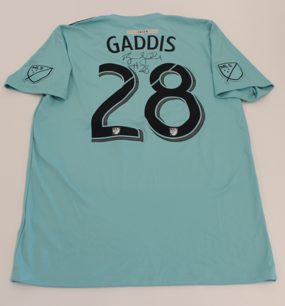 Ray Gaddis Philadelphia Union Used, Signed 2019 Adidas Parley Jersey