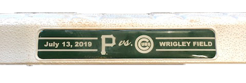 Photo of Game-Used 1st Base -- Used in Innings 5 through 9 -- Pirates vs. Cubs -- 7/13/19