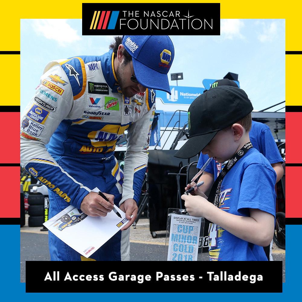All Access Garage Passes at Talladega!