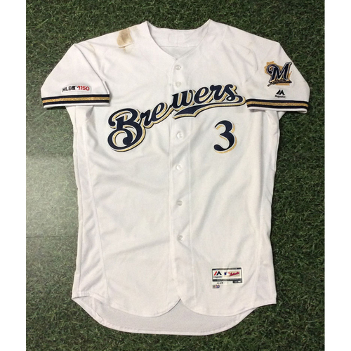 Photo of Orlando Arcia 03/28/19 Game-Used Opening Day Jersey