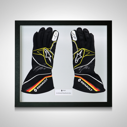 Photo of Nico Hülkenberg 2019 Renault F1 Used Framed Signed Gloves