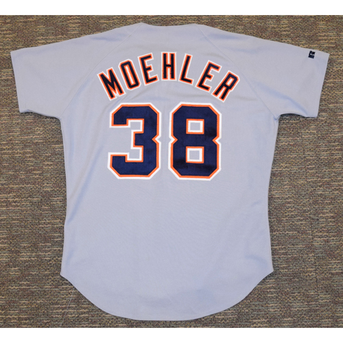 Photo of Brian Moehler Detroit Tigers #38 Road Jersey (NOT MLB AUTHENTICATED)