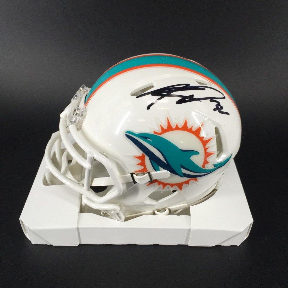 Dolphins - Kenyan Drake Signed Mini Helmet