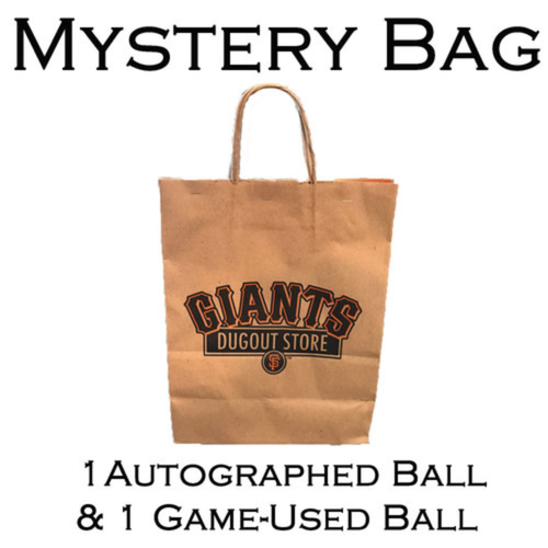 Photo of San Francisco Giants Mystery Bag - 1 Autographed Baseball and 1 Game-Used Baseball