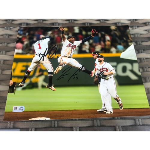 Photo of Ozzie Albies And Ronald Acuña Jr. MLB Authenticated Autographed Photo