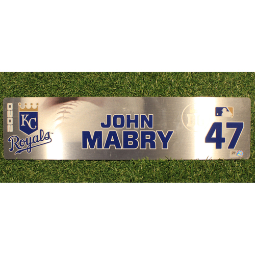 Photo of Game-Used Locker Tag: John Mabry #47 (DET @ KC 9/24/20)