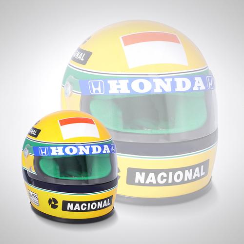 Photo of Ayrton Senna 1990 1:2 Scale Helmet