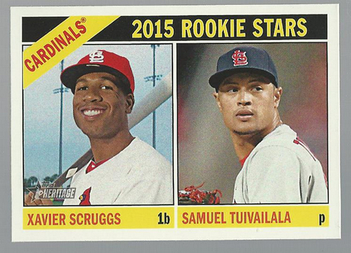 Photo of 2015 Topps Heritage #179 Samuel Tuivailala RC/Xavier Scruggs RC
