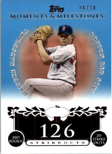 Photo of 2008 Topps Moments and Milestones Blue #142-126 Daisuke Matsuzaka