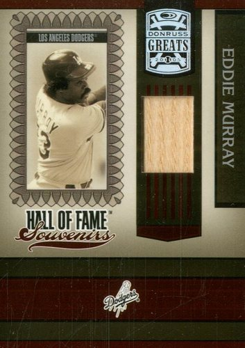 Photo of 2005 Donruss Greats Hall of Fame Souvenirs Material Bat #13 Eddie Murray T5