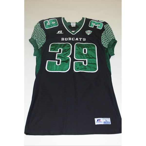 Photo of # 39 - Official OHIO BOBCATS Game Worn Football Jersey (2011) - SIZE LARGE