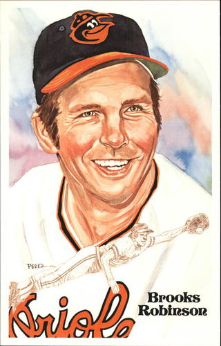 Photo of 1980-02 Perez-Steele Hall of Fame Postcards #184 Brooks Robinson -- HOF Class of 1983