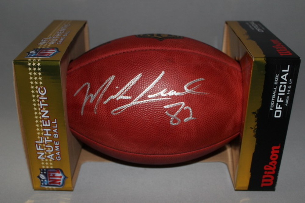 NFL - Cardinals Mike Leach signed authentic football