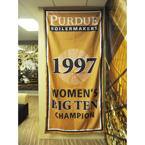 Photo of Mackey Arena Banner: Women's Basketball 1997 B1G Champs