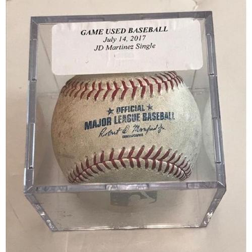 Photo of Game-Used Baseball: JD Martinez Single